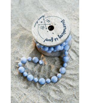 Dekorační šňůrka Decoration Beads blue