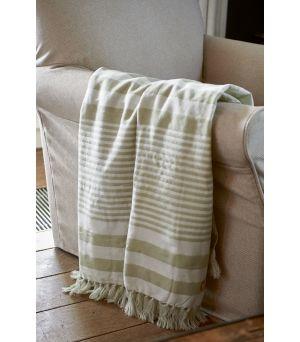 Pléd Summer Stripe Button 170 x 130 cm