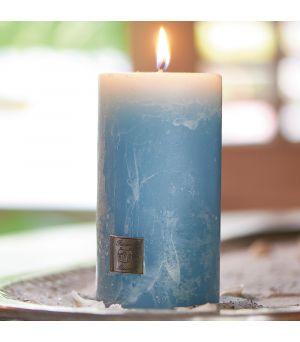 Svíčka Rustic Candle med. blue 7x13