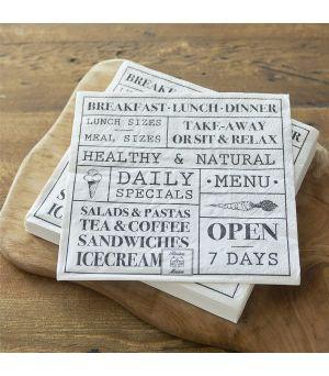 Paper Napkin Breakfast Lunch Dinner