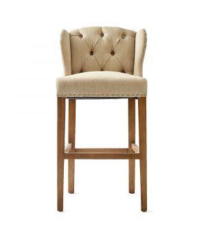 Barová židle Keith II, Linen, Flax