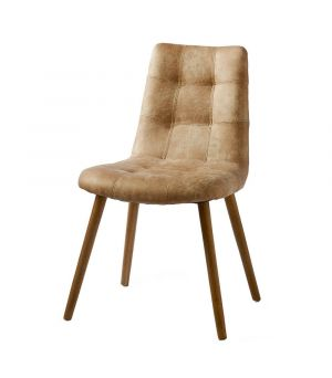Jídelní židle Duke, kůže Pellini, Camel