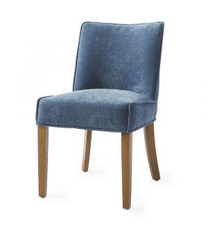 Bridge Lane Dining Chair, velvet, Blue
