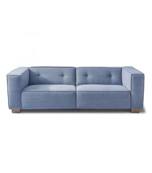 Hampton Heights Sofa 3.5s, Washed Cotton, Ice Blue