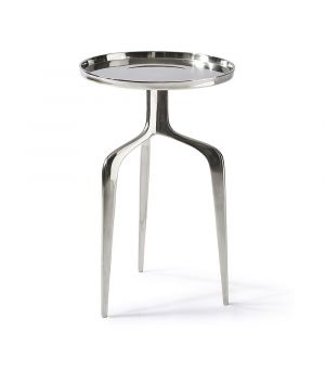 Stolek Faubourg End Table Nickel ∅ 35 cm