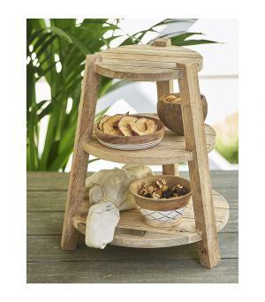 Etažér Happy Island Wooden Etagère 3 Layer