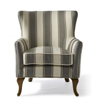 Křeslo Cavendish Stripe, Grey