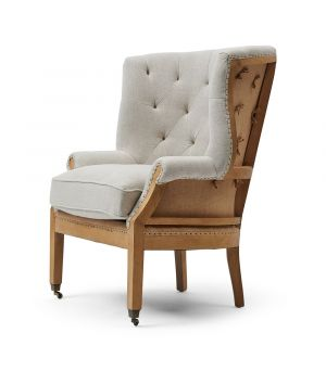 Křeslo Cunningham Wing Chair Linen