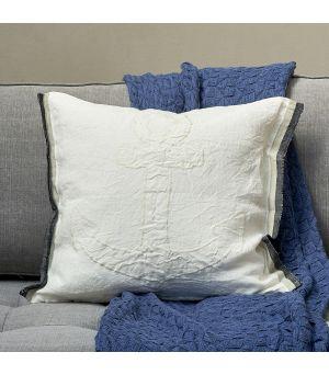 Povlak na polštář Stromboli Linen Anchor Pillow Cover ecru 50 x 50