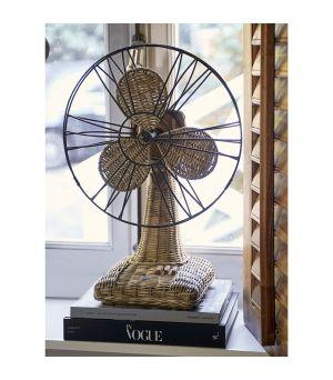 Ratanová dekorácia Ventilátor