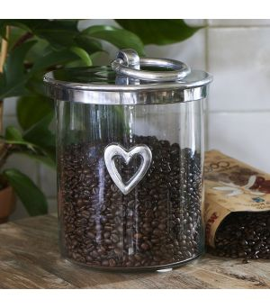 Dóza Heart Metal Storage Jar