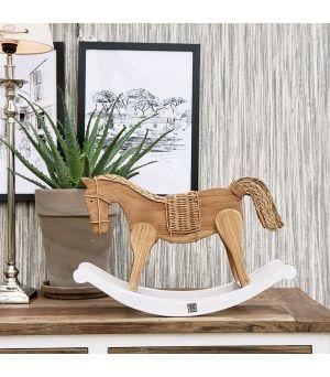 Hojdací koník Rustic Rattan Rocky Horse