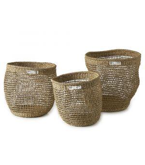 Serene Island Round Basket S/3