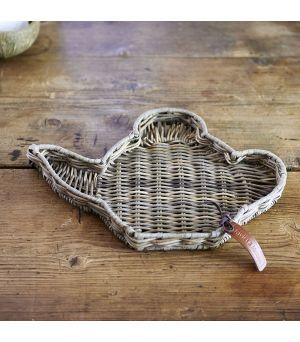 Podnos Rustic Rattan Teapot Mini Tray