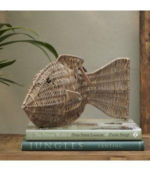 Dekorácia Rustic Rattan Big Fish