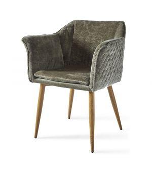 Židle Megan, Velvet, Olive