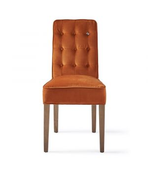Cape Breton Dining Chair Velvet, Pumpkin