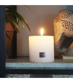 Sviečka Rustic Candle frosted white 10 x 10