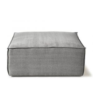 The Jagger Hocker, Washed Cotton, Grey 95 x 105 cm