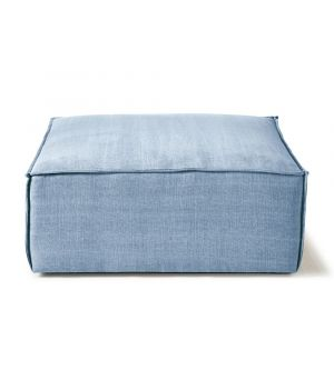 The Jagger Hocker, Washed Cotton, Ice Blue 95 x 105 cm