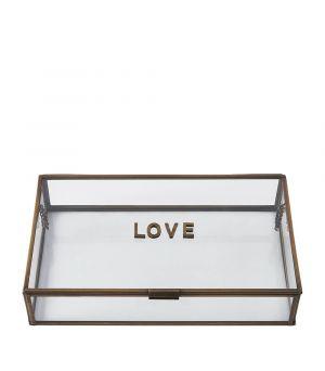 French Glass Love Box 30x18cm