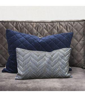 Návlek na polštář Precious Imperial Velvet Pillow Cover midnight blue 50 x 30