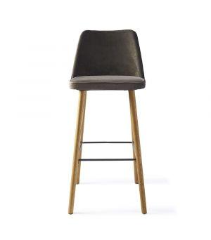 Barová židle Vegas, Velvet, Grey