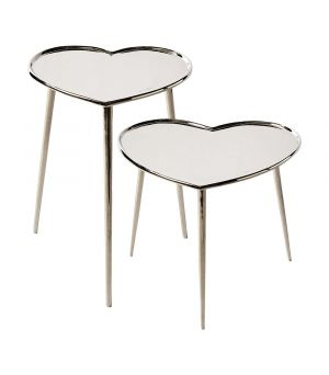 Lovely Heart End Table S/2
