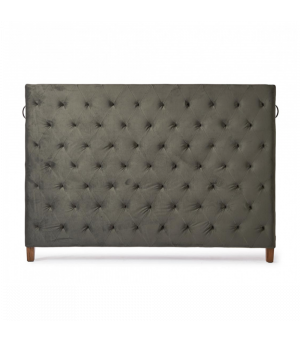 Union Square Headboard Double, Velvet, Grey