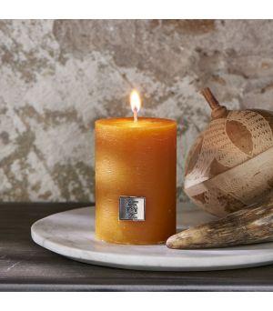Svíčka Rustic Candle ocher yellow 7 x 10