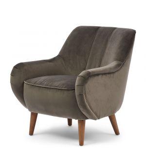 Harper Armchair, Velvet, Grey