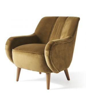 Harper Armchair, Velvet, Windsor Green