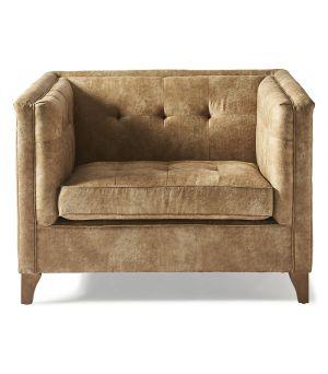 Radziwill Love Seat, Pellini, Camel