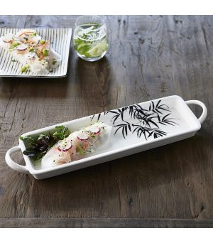 Tropical Palm Leaf Serving Plate