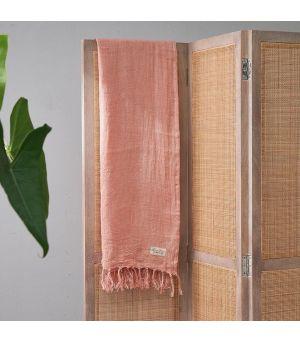 Luxury Linen Throw pink 180x130