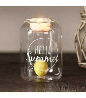 Svícen Hello Summer Fillable Votive