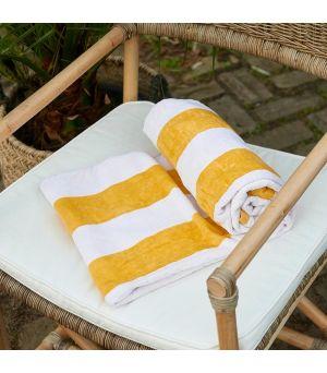 RM Lovely Str Beach Towel wh/ye