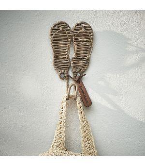 Věšák Rustic Rattan Flip Flops Hook