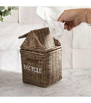 Košik na ubrousky Rustic Rattan Recycle Mini Bin