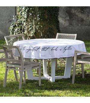 Ubrus Together Table Cloth Round white Dia 180