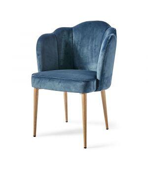 Židle Lauderdale, Velvet, Ocean Blue