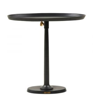 Stolek Kimberley End Table Black ∅ 55 cm