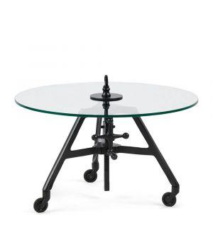 Konferenční stolek Bricklane, Black, ∅70cm