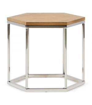 Hexagon Parc End Table, Wood