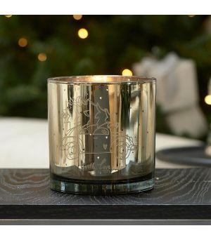 Svícen RM Christmas Car Hurricane gold