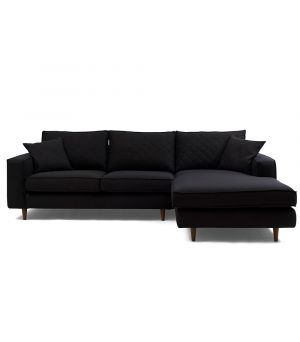 Rohová sedačka Kendall Corner Sofa Right, Oxford Weave, Black