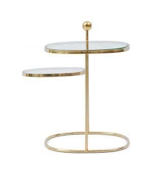 Konferenční stolek Liberty Hexagon, Gold, 49x48cm