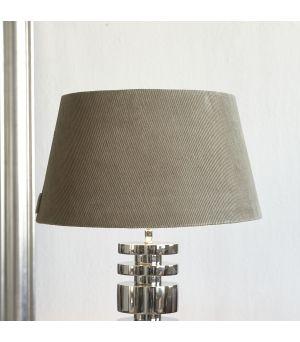 Lovely Rib Velvet Lampshade grey 35 x 45