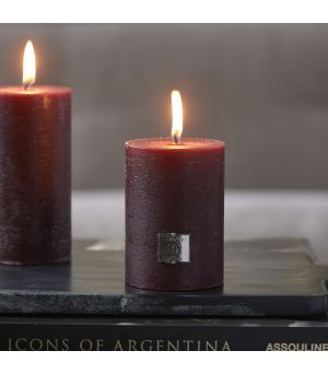 Rustic Candle burgundy 7x10