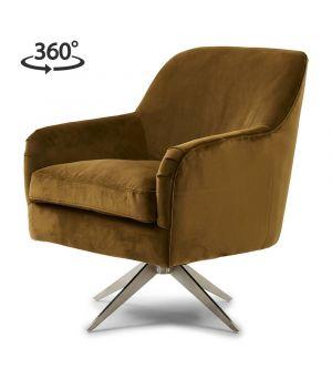 Otočné křeslo Fawcett Swivel Chair, Velvet, Windsor Green